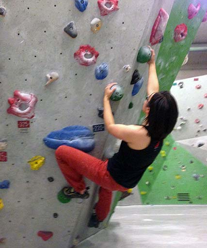 Bouldering: strength training