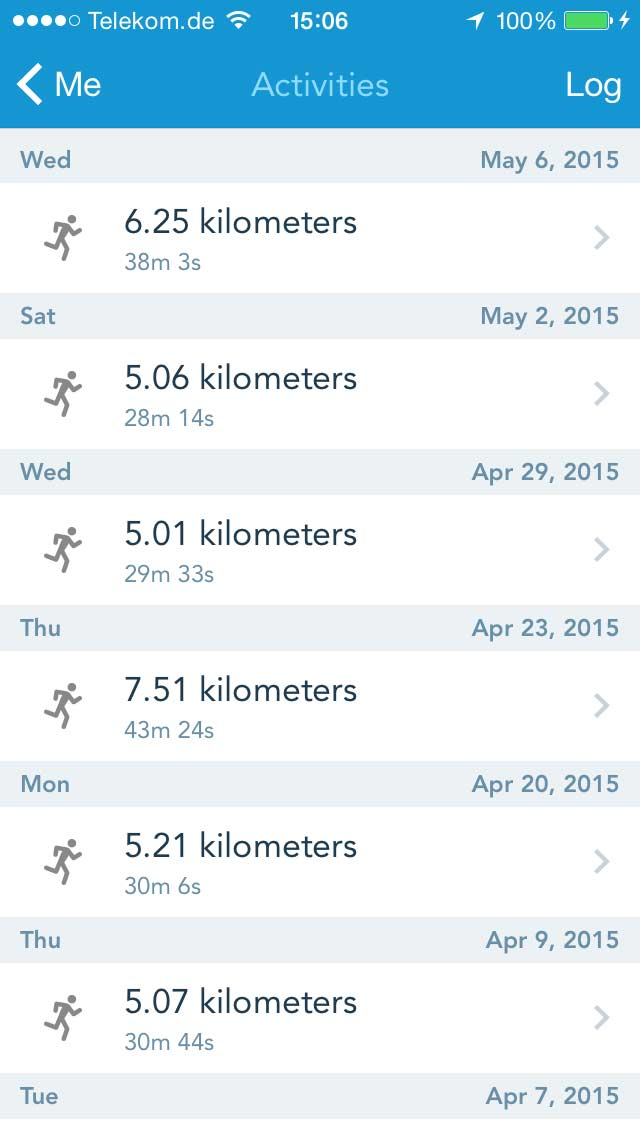 Runkeeper: Activities Log