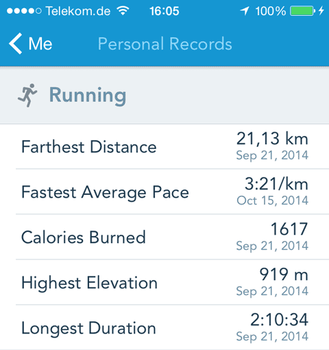 Runkeeper offers no way to correct incorrect data.