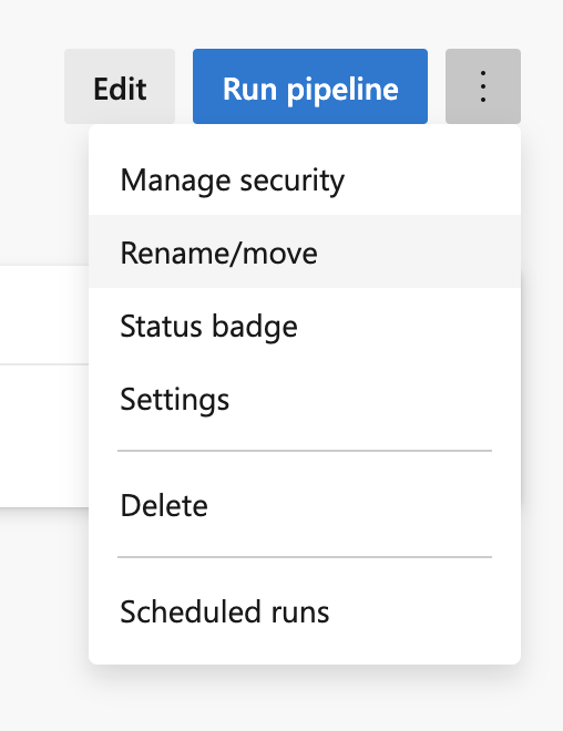 Rename your pipeline