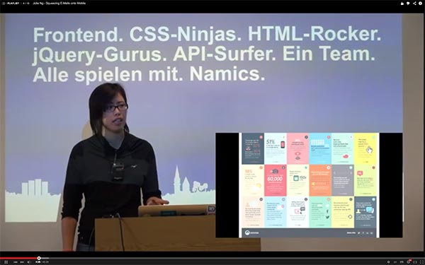 Me on stage at Frontend Conf Zürich, 2014